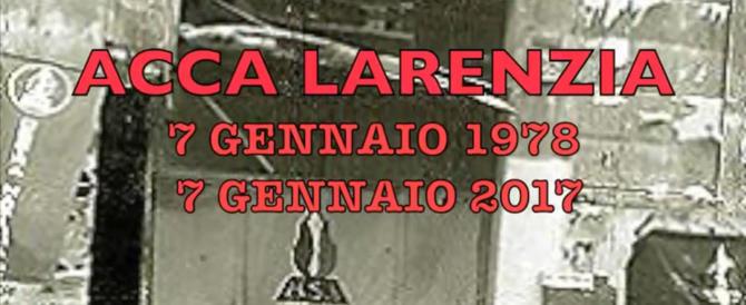 Acca Larenzia 39 anni dopo. Per non dimenticare (video)
