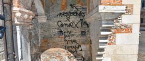Scritte sulla Basilica di Vicenza: presi 5 italiani e 3 giovani dell'Est Europa