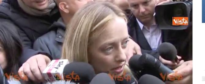 Meloni: «Berlusconi? Non c'è spazio per le ambiguità. Il voto è necessario» (video)