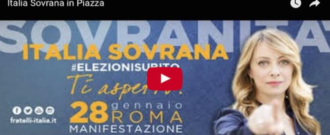 La manifestazione di Fratelli d'Italia a Roma: segui la diretta