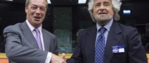 """Grillo chiede alla Rete di """"divorziare"""" dall'Ukip, rivolta e ira fra i grillini (video)"""