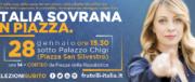 Il 28 gennaio Fratelli d'Italia scende in piazza: «L'Italia deve tornare sovrana»