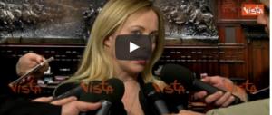 """Meloni: """"Vogliono impedire agli italiani di andare a votare"""" (VIDEO)"""