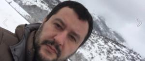 """Salvini in Abruzzo: """"Gentiloni va dalla Merkel, io sto coi terremotati"""""""