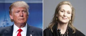 Meryl Streep ci prova, Trump la gela: è una lacché della Clinton (Video)