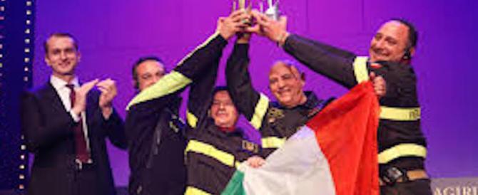 I Vigili del fuoco italiani premiati come i migliori del mondo (video)