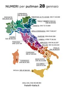 manifestazione di Fratelli d'Italia