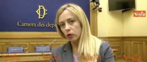 Legge elettorale, Meloni: «Non ci sono più scuse, subito al voto» (video)