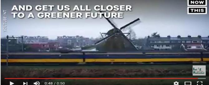 In Olanda i primi treni che viaggiano alimentati dal vento (video)