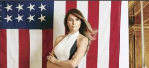 Melania Trump in posa da First Lady