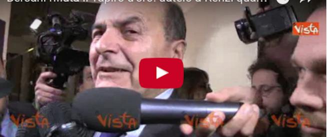 """Bersani rifiuta il Tapiro d'oro: """"Datelo a Renzi quando si dimetterà…""""(video)"""