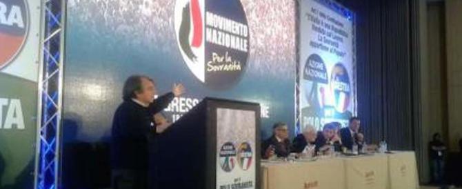 Brunetta al congresso di destra: «Abbiamo il dovere dell'unità»