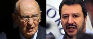 Data elezioni, Napolitano si intromette. Salvini: «Vergogna, va processato»
