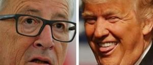 Da Juncker pesante attacco a Trump: «Sull'Ue dice idiozie»