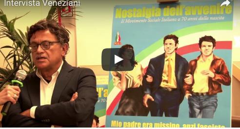 Veneziani: «Abbiamo voluto  mettere a confronto due generazioni» (VIDEO)