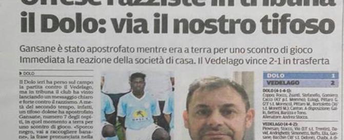 """Insulti razzisti a un calciatore, dirigente del Dolo """"espelle"""" il tifoso"""