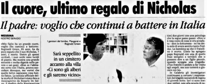 Visse con il cuore di Nicholas Green, ucciso nel '94: morto Andrea Mongiardo