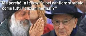 «Napolitano, cercati un cantiere da guardare»: l'ironia di Osho spopola sul web