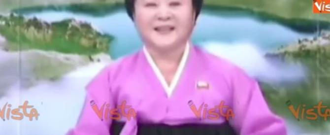 Corea, una donna in rosa annuncia ridendo: «Il test nucleare è riuscito!» (video)