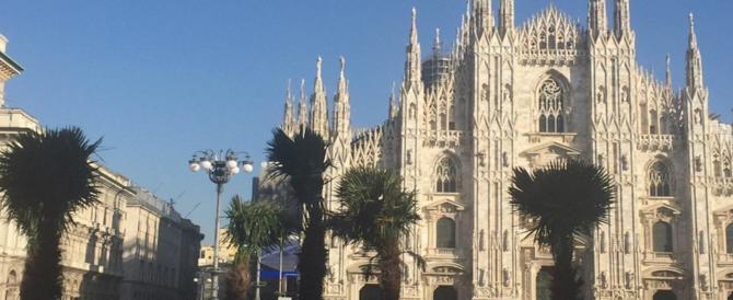 Palme in piazza Duomo a Milano. Sala soddisfatto, ma c'è chi si sente spaesato