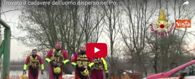 Trovato nelle acque del Po il cadavere dell'uomo disperso a Carignano (video)