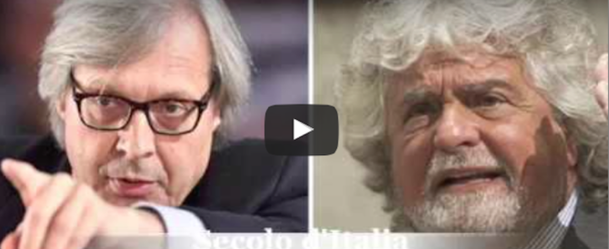 "Sgarbi: «Grillo mi disse ""Virginia è una depensante"". Ho la registrazione» (video)"