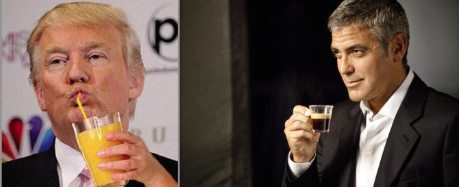 "Clooney ""depresso"" per la vittoria di Trump: e bevi un caffè… what else?"