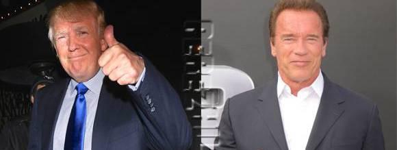 Trump dileggia Schwarzy: preghiamo perché gli salgano gli ascolti in tv…