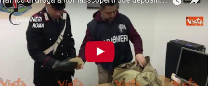 Droga, scoperti depositi di hashish e coca: la mappa dello spaccio a Roma (video)