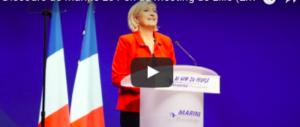 """Le Pen: """"Se vinco, Francia via dall'Euro. L'Unione europea morirà"""" (VIDEO)"""