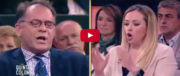 La Meloni distrugge Cecchi Paone: «Vai in Germania se l'Italia ti fa schifo» (video)