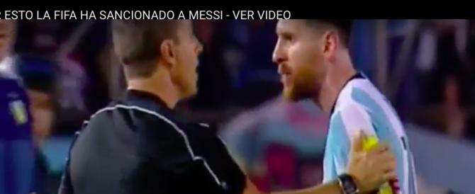 Messi insulta la mamma del guardalinee: la Fifa lo stanga (VIDEO)