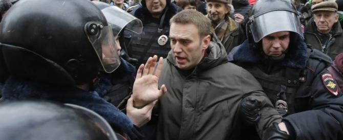 Russia, arrestato l'oppositore Navalny. Fermate centinaia di persone durante le proteste