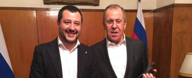 Salvini a Mosca: incontro con Lavrov e accordo con il partito di Putin