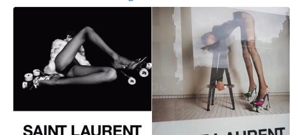 La rete si indigna per la campagna YSL con modelle anoressiche sui pattini