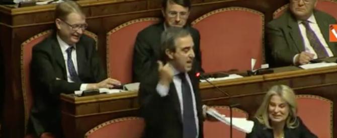 Gasparri ironizza sul Pd e cita Dante: siete la vecchia Italia (video)