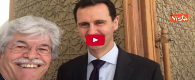 Razzi posa con Assad: e nel postare la foto online inciampa in un H di troppo (video)