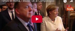 I leader della Ue in Campidoglio in cerca di idee per un'Europa che non c'è (video)
