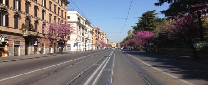 Testaccio deserta e primi disordini a Ostiense: ecco la Roma spettrale del 25 marzo (Fotogallery)
