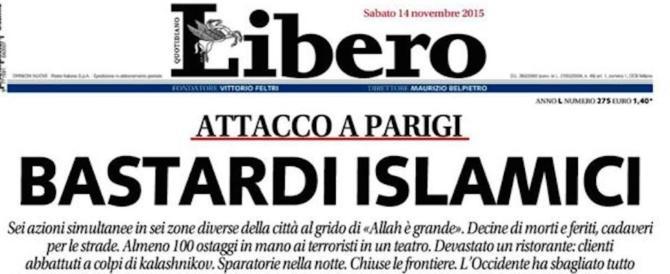 """Titolò """"Bastardi islamici"""" dopo la strage al Bataclan: Belpietro a processo"""