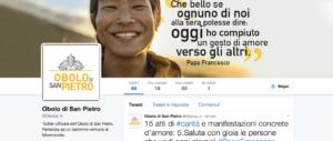 """L'Obolo di San Pietro è """"social"""" e ora sbarca su Twitter e Instagram"""