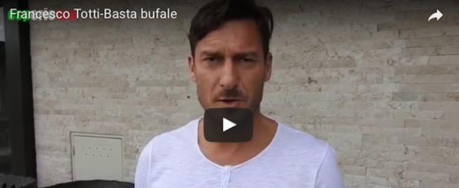 «Sono della Lazio». Il video di Totti contro le bufale che girano sul web