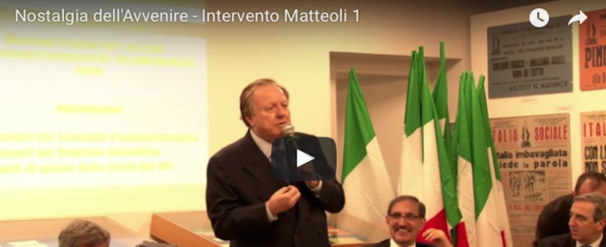 """""""Nostalgia dell'avvenire"""", l'intervento di Altero Matteoli (video)"""