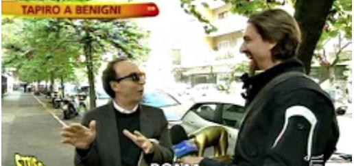 Tapiro a Roberto Benigni: «Ho copiato Sermonti? Io non copio, cito»