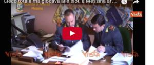 Cieco totale sorpreso a giocare alle slot: 5 falsi invalidi arrestati a Messina (video)