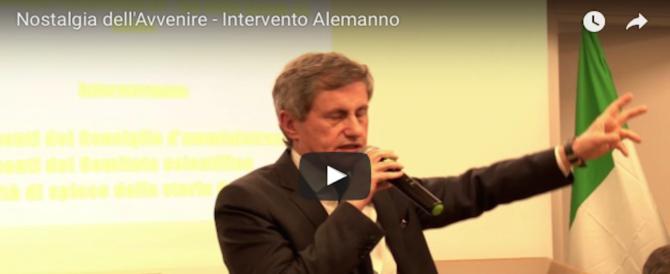 """""""Nostalgia dell'avvenire"""", l'intervento di Gianni Alemanno (video)"""