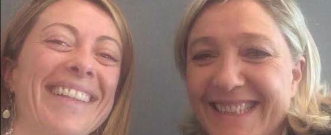 Meloni: «Io sto con la Le Pen, è l'unica che combatte inciuci e ammucchiate»