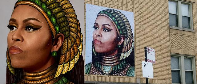 L'artista amico di Michelle Obama nei guai: ha copiato il murale da internet
