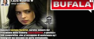 Laura Boldrini contro gli sciacalli del web: «Insulti a mia sorella, ma è morta»