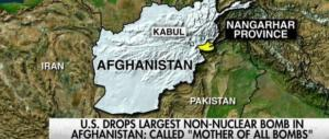 La superbomba di Trump sull'Afghanistan lanciata con gli occhi alla Corea